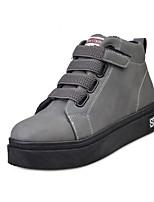 Черный Серый-Женский-Повседневный-Полиуретан-На толстом каблуке-Удобная обувь-Кеды