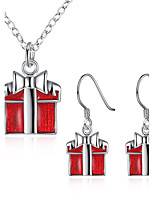 Jewelry 1 Necklace 1 Pair of Earrings Non Stone Halloween Daily Casual 1set Women Silver Wedding Gifts