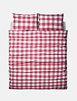 Plaid Duvet Cover Sets 4 Piece Cotton Contemporary Yarn Dyed Cotton Twin / Queen 1pc Duvet Cover / 2pcs Shams / 1pc Fitted Sheet