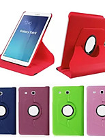 Para Samsung Galaxy Capinhas Com Suporte / Flip / Rotação 360° Capinha Corpo Inteiro Capinha Cor Única Couro PU SamsungTab 4 10.1 / Tab 4