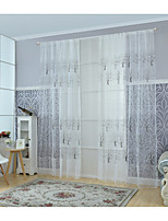 One Panel Curtain Modern Living Room Poly / Cotton Blend Material Sheer Curtains Shades Home Decoration For Window