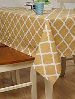 ריבוע מעוטר / פסים כיסויי שולחן , פשתן / כותנה מעורבת חוֹמֶר שולחן אוכל במלון / שולחן Dceoration / עיצוב הבית