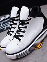 Черный / Белый-Женский-На каждый день-ПолиуретанУдобная обувь-Кеды