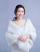 Women's Wrap Shawls Faux Fur Wedding / Party/Evening Animal Print