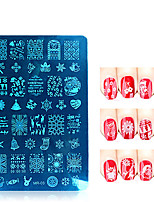 1pcs/lot Christmas Series Nail Art Stamp Stamping Stainless Steel Mold