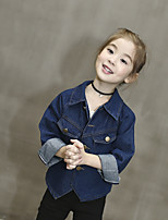 Girl Casual/Daily Solid Suit & Blazer,Cotton Fall Long Sleeve