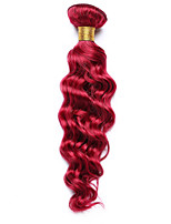 1PC TRES JOLIE Deep Wave 10-14Inch Color Burgundy Human Hair Weaves
