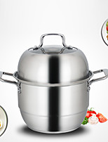 Stainless Steel Double-layer Steamer 28cm