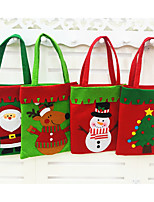 Fashion Style Chrismas Santa Claus Candy Gift Bags Handbag Pouch Present Bag Christmas Decoration 2016 Gift 1pc