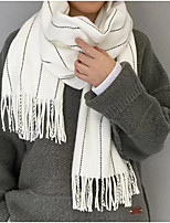 Unisex Acrylic Scarf,Casual RectangleStriped