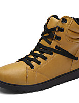 2017 High Quality Men's Fashion Combat Boots High Top Shoes Casual Leather Snow Boots Flat Heel Lace-Up EU39-43