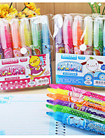 Children'S Cartoon 6 Color Fluorescent Pen(6PCS)