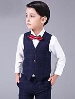 Cotton Ring Bearer Suit - 4 Pieces Includes  Shirt / Vest / Pants / Bow Tie
