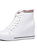 Women's Sneakers Fall Winter Others PU Casual Wedge Heel Black White
