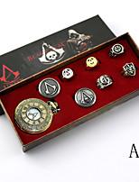 שעון קיבל השראה מ מתנקש Conner אנימה / משחקי וידאו אביזרי קוספליי אביזרים נוספים מוזהב סגסוגת יוניסקס