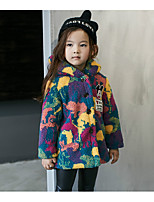 Girl Casual/Daily Print Suit & Blazer,Cotton / Rayon Winter / Spring / Fall Long Sleeve
