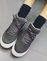 Черный / Серый-Женский-На каждый день-ЗамшаУдобная обувь-Кеды