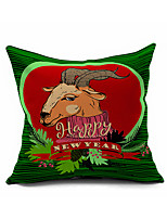 Merry Christmas Series Cartoon Cotton Linen Throw Pillow Case Home Decorative  Cushion Cover Pillowcase(Set of 1)