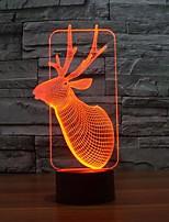 Vánoce jelen touch stmívání 3d vedl noční světlo 7colorful dekorace atmosféra lampa novinkou osvětlení vánoční světlo