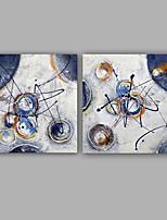Handgemalte Abstrakt Ölgemälde,Modern / Klassisch Zwei Panele Leinwand Hang-Ölgemälde For Haus Dekoration