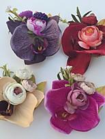 Fleurs de mariage Roses Boutonnières Mariage / Le Party / soirée Satin / Mousse