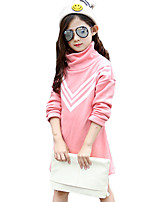 Girl Casual/Daily Solid Hoodie & Sweatshirt,Cotton Fall / Winter Long Sleeve Regular