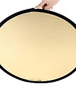 זהב מאחז כסף 80cm 2 in1 רפלקטור נייד מתקפל רב דיסק אור לזהב ולכסף צילום 2 in1