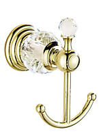Robe Hook / Gold9*9.5*6 /Brass / Crystal /Contemporary /9 9.5 0.45
