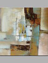 Pintados à mão Abstracto / Fantasia Pinturas a óleo,Modern / Estilo Europeu 1 Painel Tela Hang-painted pintura a óleo For Decoração para