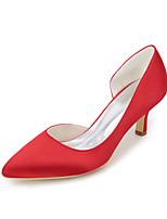 Для женщин Свадебная обувь Туфли лодочки Весна Лето Сатин Свадьба Для вечеринки / ужина На шпильке Лиловый Красный Синий