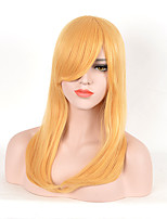 Fashion Women Blonde Color Synthetic Wigs Long Straight Wigs