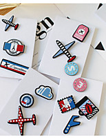 1 Set Cute Blue Airplane Pin  Brooch Set Fashion Jewelry for Men/Women(Random Style)