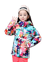 Gsou Snow Ski Suit Children/ Female Children With Warm Windproof Breathable Skiing Wear Cotton-Padded Jacket