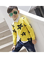 Boy Casual/Daily Print Blouse,Cotton Fall Long Sleeve