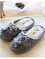 Women's Slippers & Flip-Flops Winter Comfort Fleece Casual Flat Heel Pom-pom Gray Others
