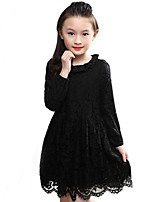 Girl's Casual/Daily / Going out Floral Dress,Cotton Fall / Spring Long Sleeve