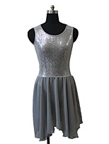 Ballet Dresses Women's / Children's Performance Chiffon / Nylon / Sequined / Lycra Sequins 1 Piece Sleeveless Dress