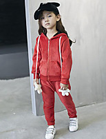 Girl Casual/Daily Patchwork Sets,Cotton Blend Winter / Spring / Fall Long Sleeve Clothing Set