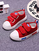 Boy's Sneakers Spring / Fall Comfort Canvas Casual Black / Pink / Red / White