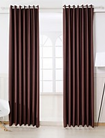 Two Panels Curtain Modern , Solid Bedroom Polyester Material Curtains Drapes Home Decoration For Window