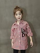 Girl Casual/Daily Striped Shirt,Cotton Fall Long Sleeve