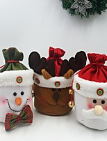 3Pcs The Household kitchen Supplies Cute Silent Night Christmas Article Gift Bag