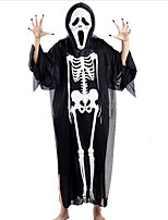 Halloween Costume Party Manufacturers Clothes Skeleton Ghost Clothes  Single Screaming Mask  Nail Sets