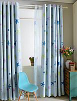 Um Painel Tratamento janela Moderno , Animal Quarto das Crianças Poli/Mistura de Algodão Material Blackout Cortinas cortinasDecoração