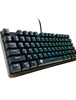 USB Игровые клавиатуры / Механическая клавиатура USB зеленой оси z-77