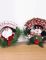 20cm Snowman Santa Claus couronnes décoratives