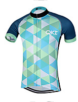 QKI Conjunta Pro Cycling Jersey Men's Short Sleeve Bike Breathable / Quick Dry / Anatomic Design / Front Zipper / Reflective Strips