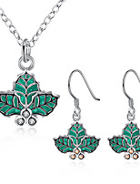 Jewelry Set Jewelry Chrismas Green Wedding Party Halloween Daily Casual 1set 1 Necklace 1 Pair of Earrings Wedding Gifts