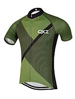 ספורטיבי חולצת ג'רסי לרכיבה לגברים שרוול קצר אופנייםנושם / ייבוש מהיר / עיצוב אנטומי / רוכסן קדמי / כיס אחורי / תומך זיעה / רצועות מחזירי