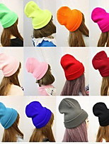 Cap Baseball Cap Cap Outdoor Sports Leisure Boom Breathable / Comfortable  BaseballSports Fluorescent Color Knitted Cap